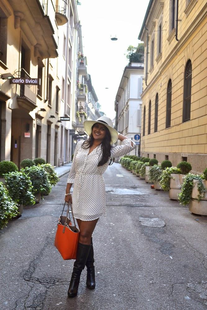 milan streetstyle h&m dresses