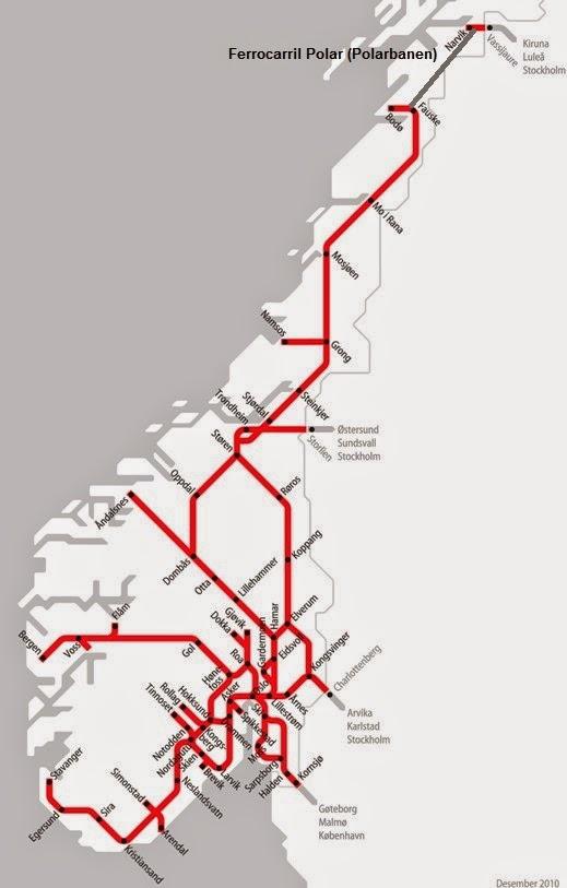 Viajes ferroviarios de ayer hoy y maana Noruega el Ferrocarril