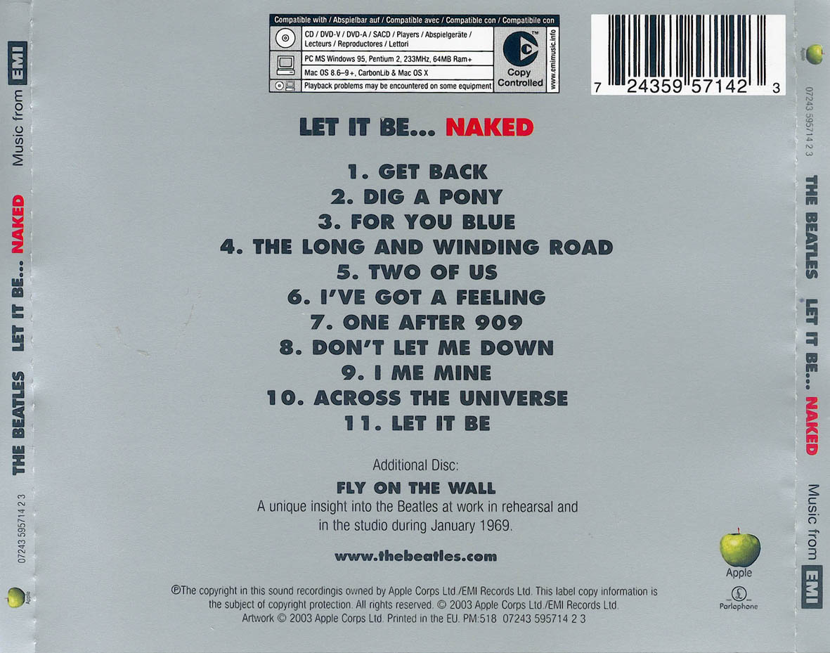 Lt It Be Naked Beatles 13