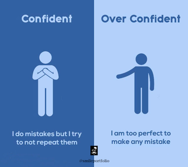 confident people versus overconfident people, learning from mistakes