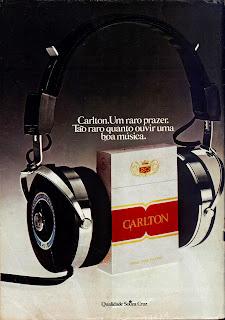 propaganda cigarros Carlton - 1979. Reclame cigarros anos 70.