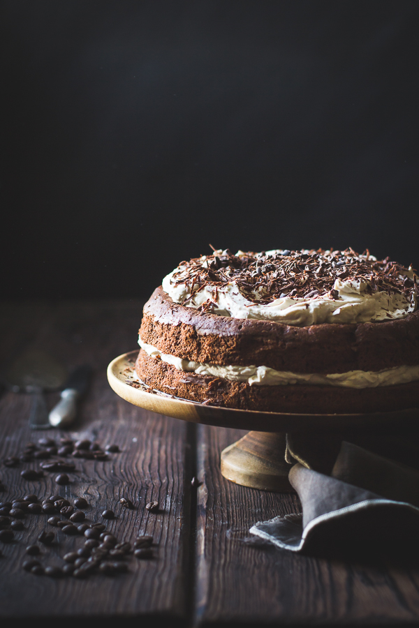 ... Gourmet: Chocolate Chestnut Cream Cake with Coffee + Rum {gluten-free