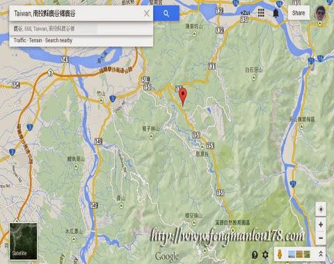 台湾鹿谷地图