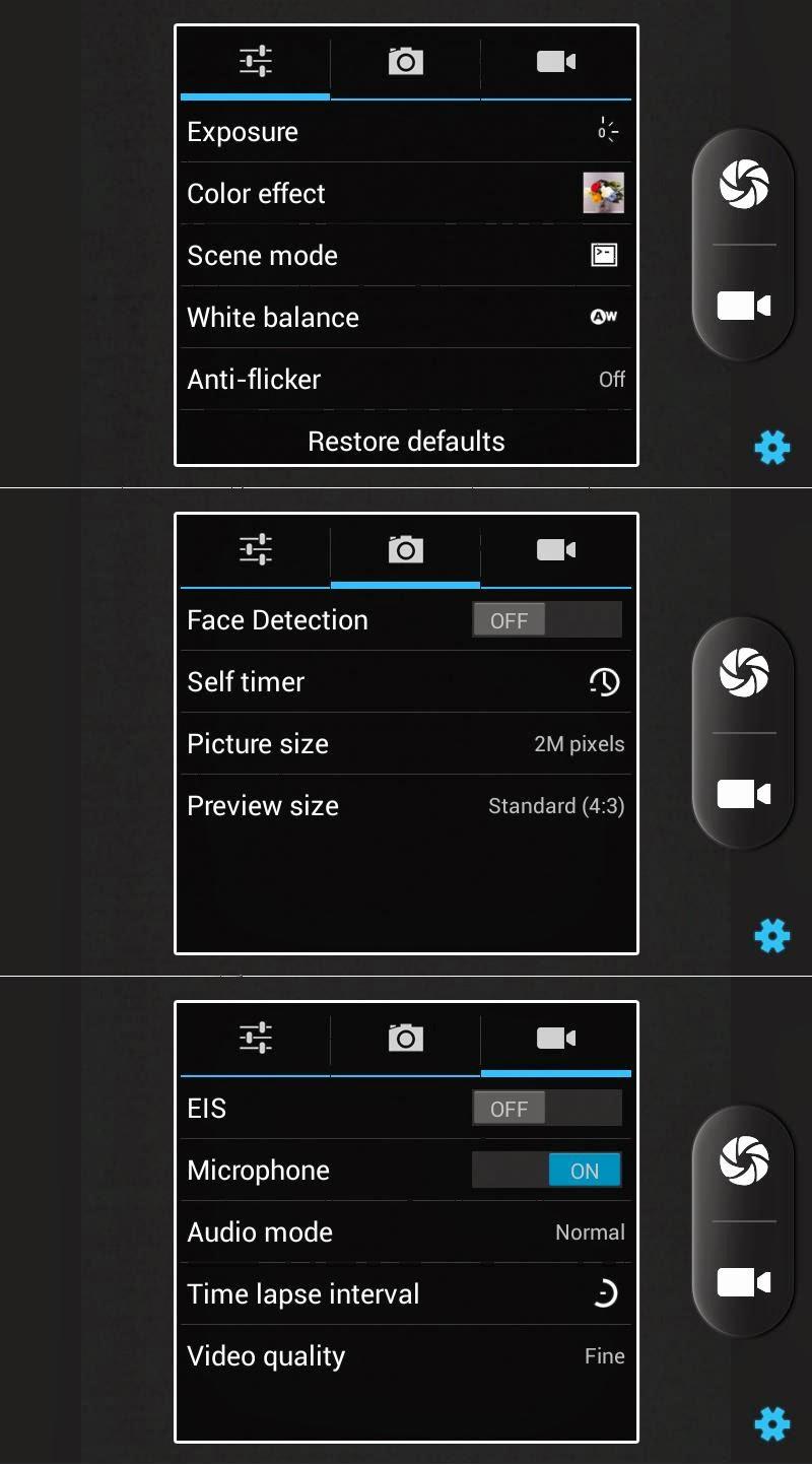 SKK Mobile Glimpse Camera/Video Settings