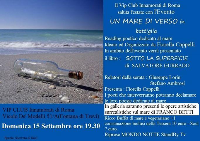 Corriere del web un mare di verso al vip club innamorati - Da roma porta verso il mare ...