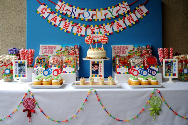 Party Hat: Candy Buffet Setup Package