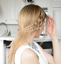 4 Strand Slide Up Braid Hairstyle Tutorial