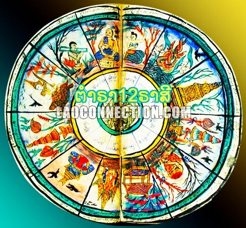 Lao Astrology Wheel - ຕໍາຣາ12ຣາສີ