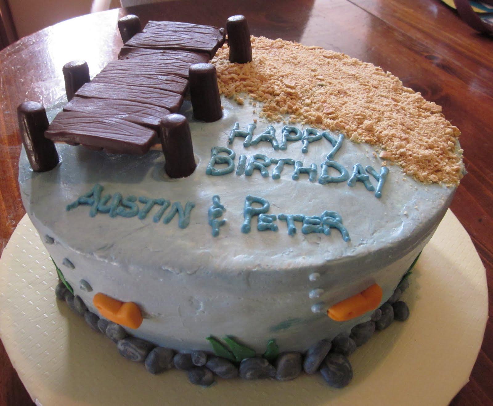 Second generation cake design fishing birthday cake for Fish cake design