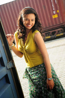 Isha Chawla lovely smiling beauty in lovely tank top long skirt