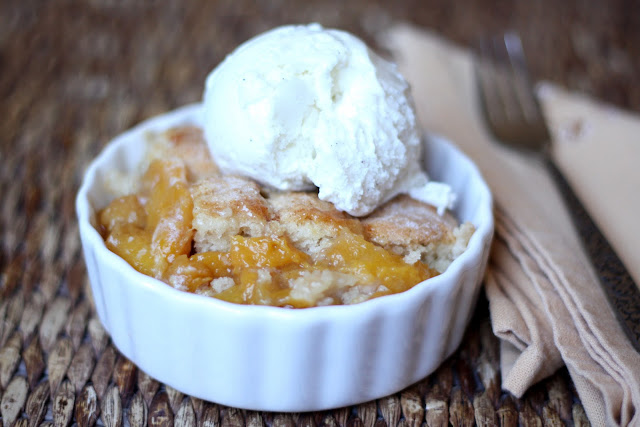 Southern Peach Cobbler recipe by Barefeet In The Kitchen