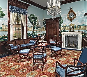 Historic period interior design and home decor american for American house interior decoration