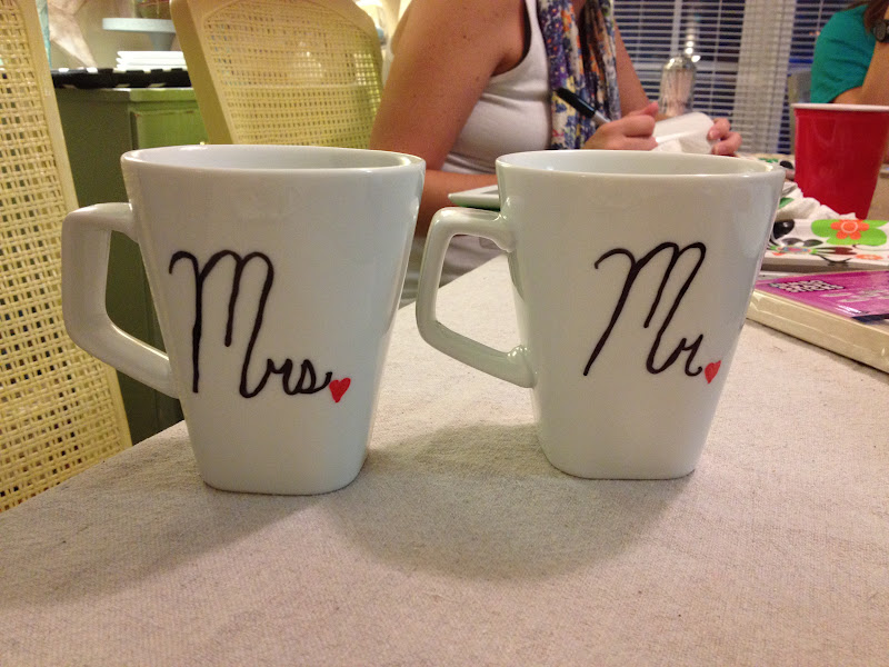 Personalised Wedding Mugs Australia : Thrifty Finds and Redesigns: DIY Personalized Mugs- July Craft Night