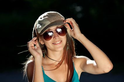 fashionable ladies glasses  Summer Sunglasses For Girls