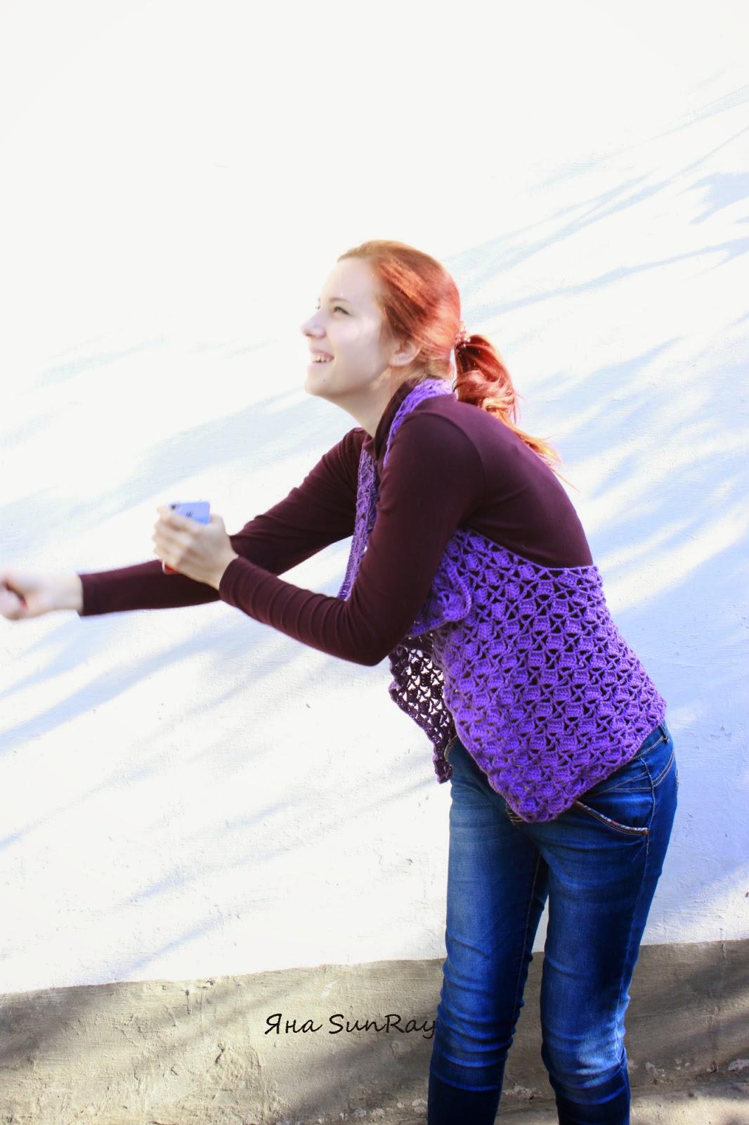 жилет, вязание крючком, безрукавка крючком, вязание на заказ, настроение своими руками, красивый жилет, трансформер, разлетайка,  Яна SunRay, ажурный жилет, накидка красивая, вязание по Украине,