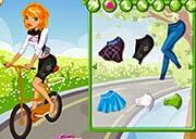 لعبة تلبيس فتاة علي العجلة
