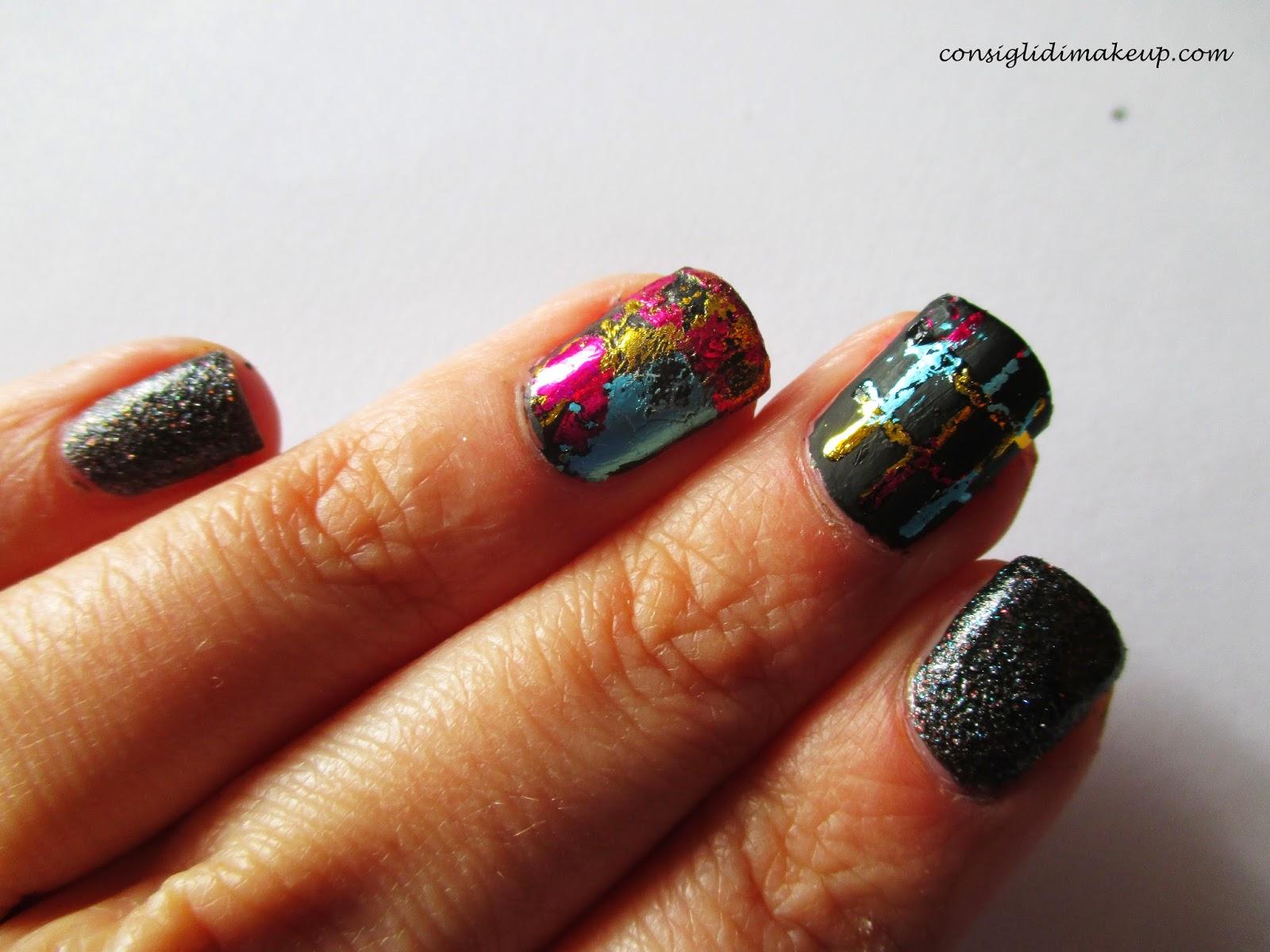 Nail art: Love Foil