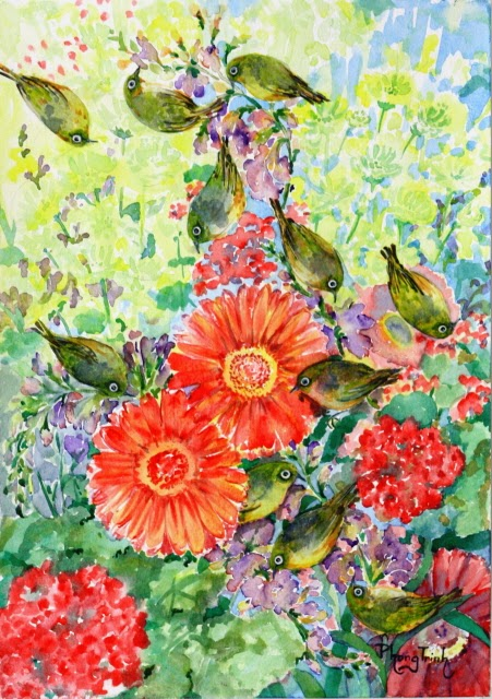 Wonderful Watercolor on paper 29.5x42cm, Original Fine Art SOLD