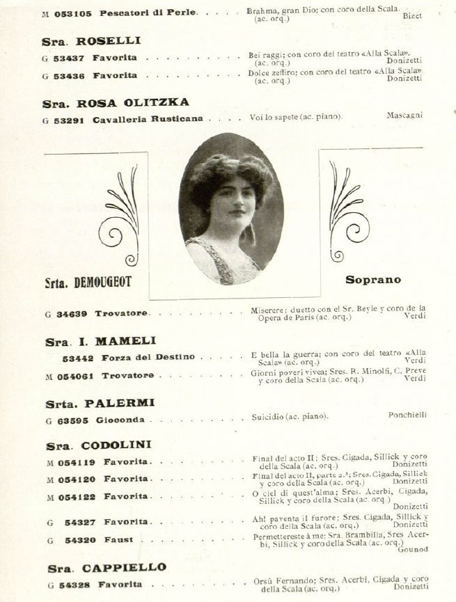 FRENCH SOPRANO MARCELLE DEMOUGEOT (1876 - 1931) CD
