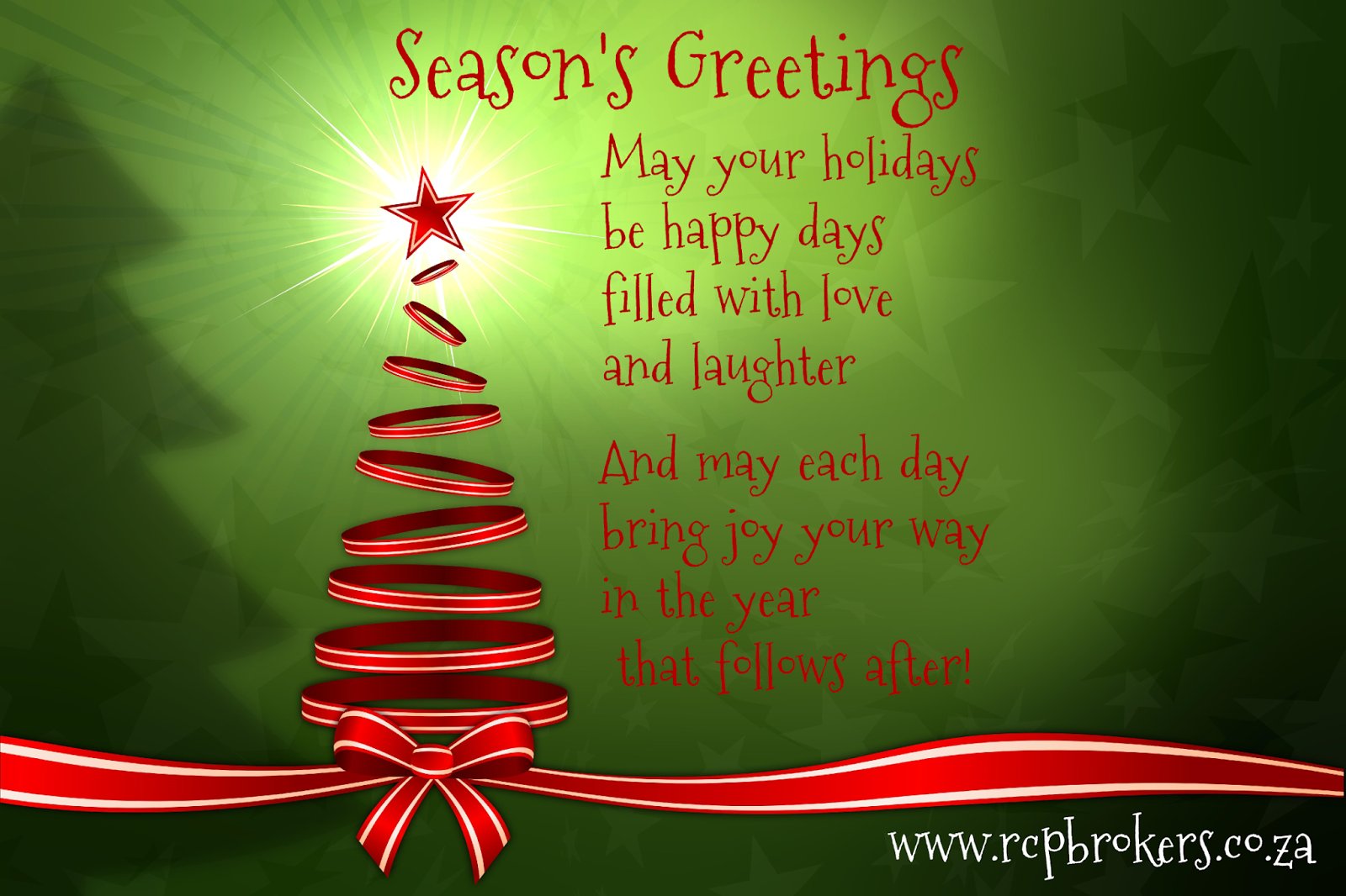 Rcp commercial property brokers blog seasons greetings from rcp rcp commercial property brokers management and staff would like to wish all our loyal customers and followers a joyous holiday season and a smashing new m4hsunfo