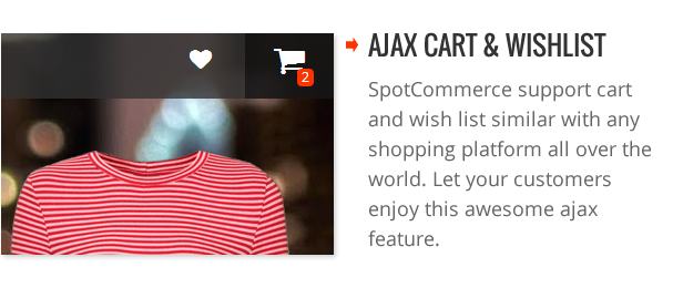 Ajax cart and wishlist