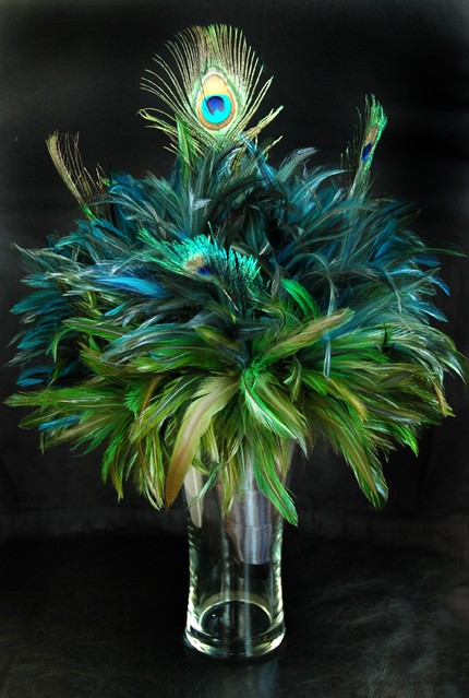 complete peacock wedding decoration table centerpiece