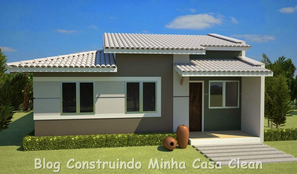 Construindo minha casa clean 20 fachadas de casas for Fachadas de casas 2 plantas pequenas