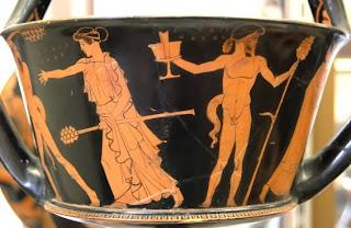 Ερυθρόμορφος και μελανόμορφος ρυθμός στην κεραμική,  δείγματα της μεγάλης ζωγραφικής των αρχαίων