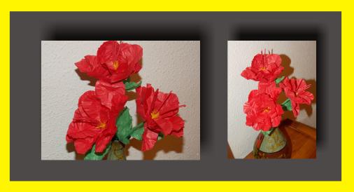 Hibisco flor de papel de seda