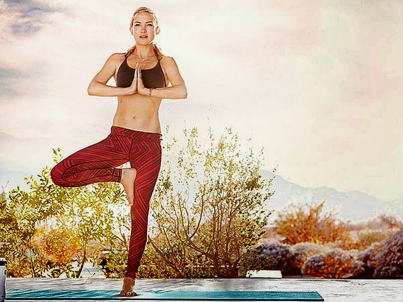 Kate Hudson shows off her toned physique on the new ads for her Fabletics line of athletic wear.
