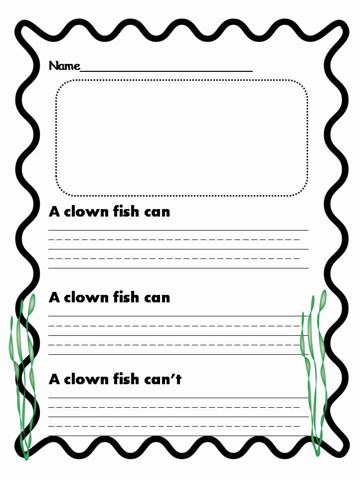 Fish writing paper