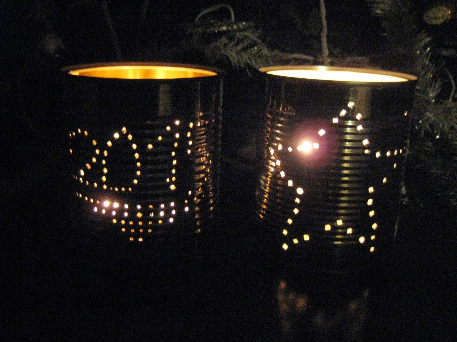 Maman je sais pas quoi faire lanterne boite en conserve - Photophore boite de conserve ...