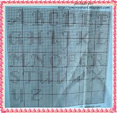letras do alfabeto para tapetes de crochê personalizado