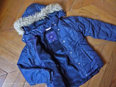 A vendre : anorak Gap bleu à capuche - fille 10/11 ans (voir plus de détails)