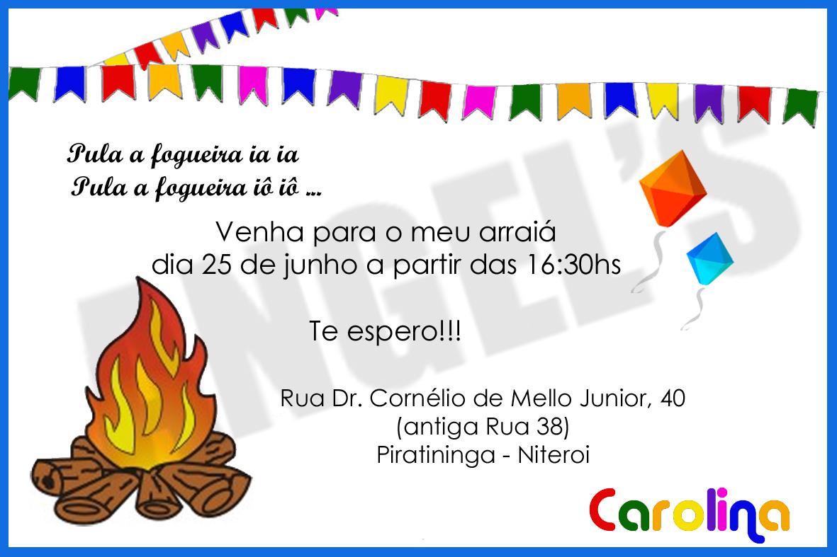 Angels Art Gráfica Convite Festa Junina Adulto