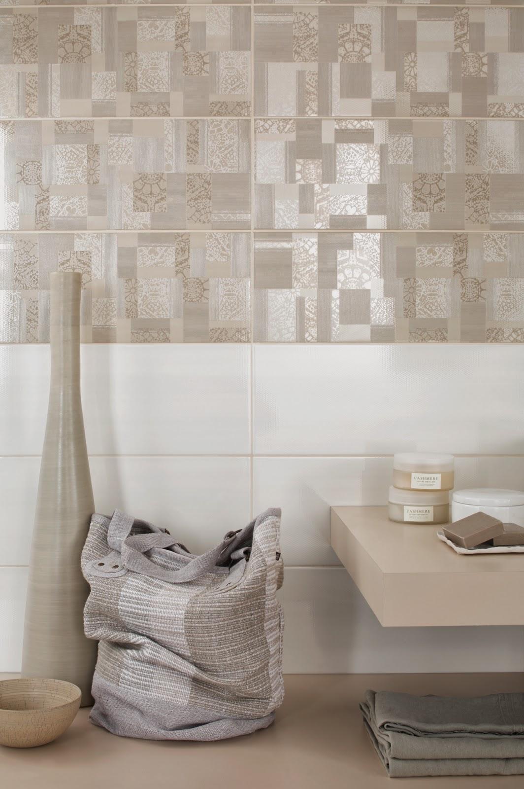 Bagno effetto mosaico piastrelle a mosaico in madreperla - Piastrelle bagno effetto mosaico ...