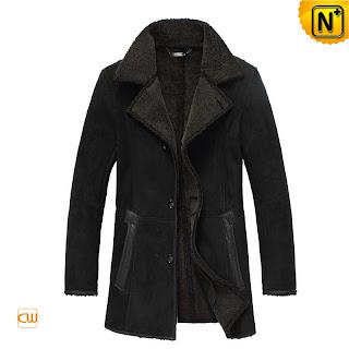 Long Black Lamb Coat