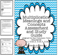 http://www.teacherspayteachers.com/Product/Multiplication-Meanings-and-Concepts-Assessment-Common-Core-aligned-1002009