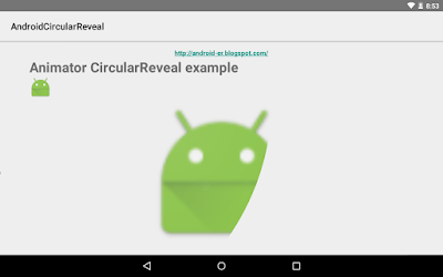 Example To Usage Animator Of Circularreveal