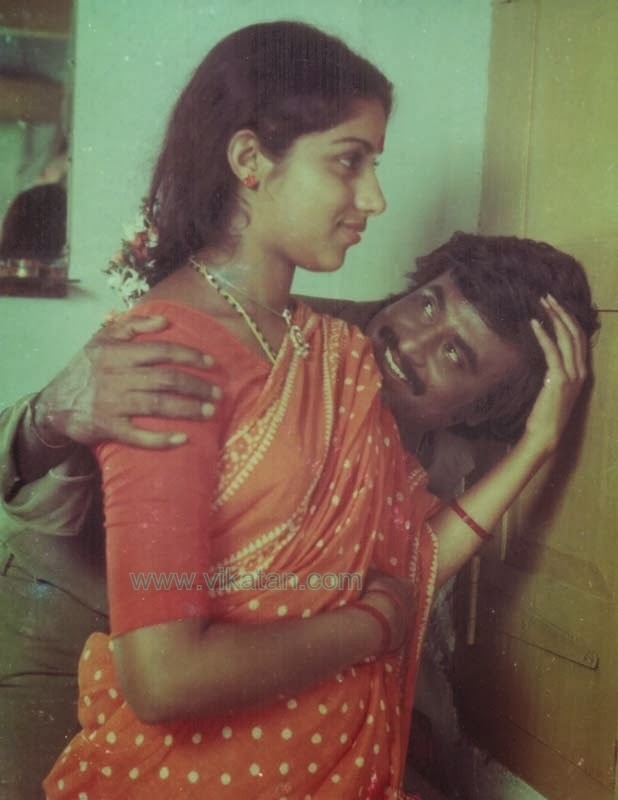Rajinikanth & Revathi in 'Kai Kodukkum Kai' (1984) Tamil Movie