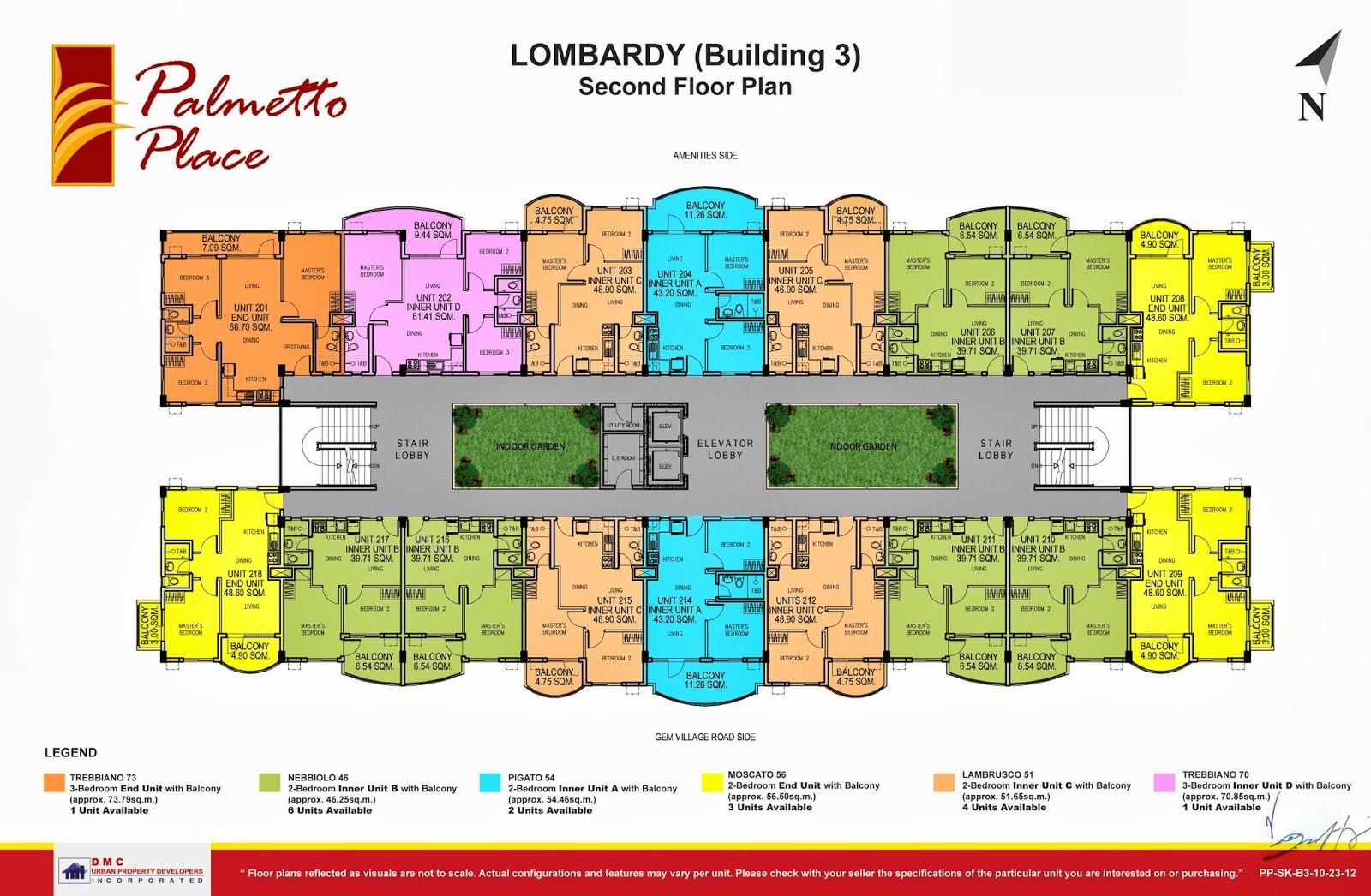 Palmetto Place Condominium, Ma-a, Davao City Second Floor Plan