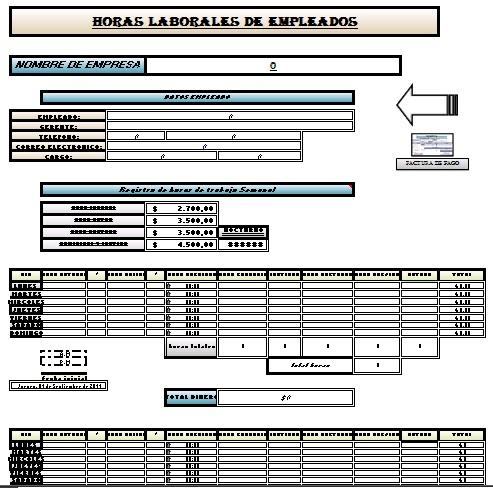 Aplicaciones Administrativas En Excel Nomina Laboral