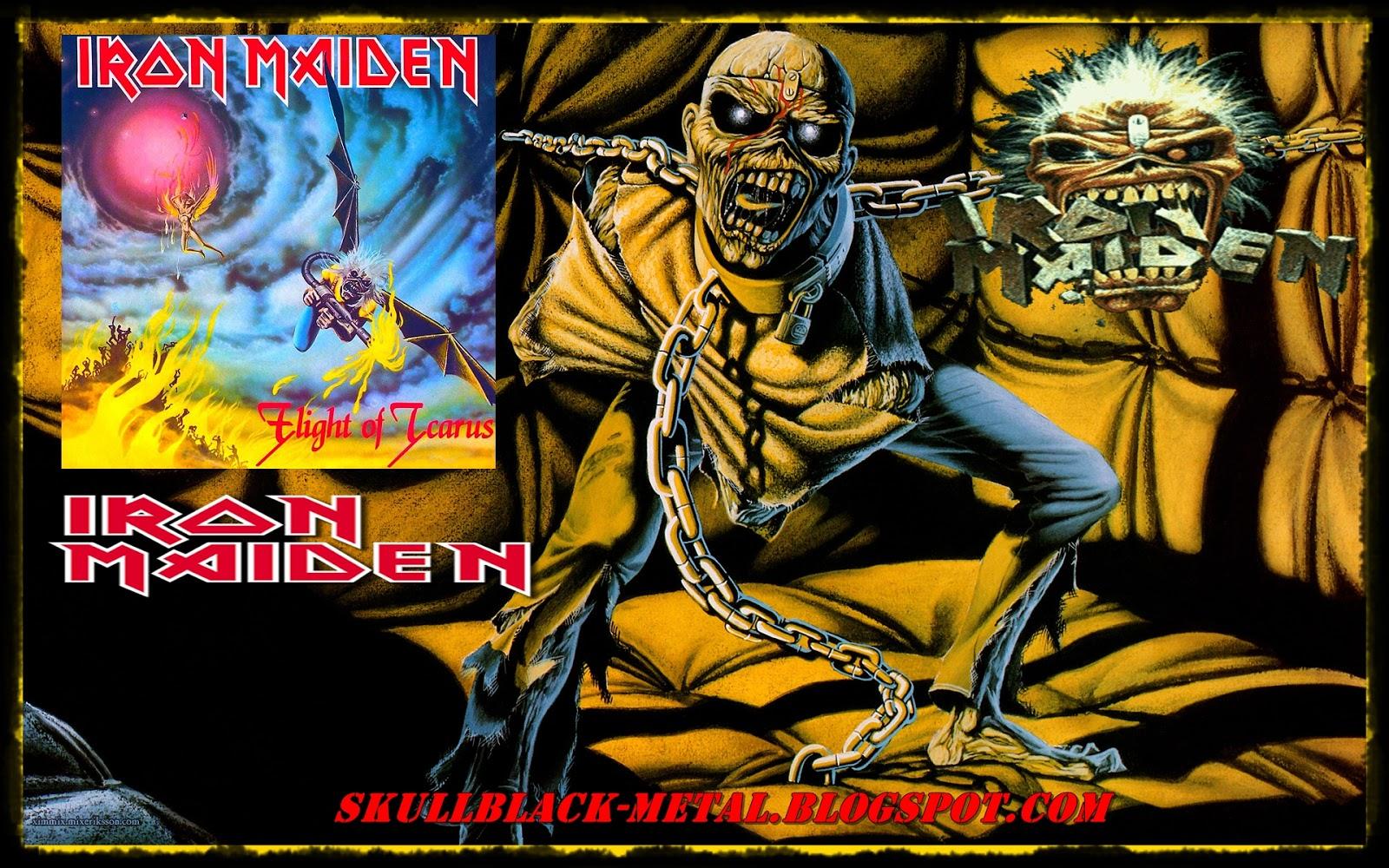 Skullblack metal iron maiden flight of icarus 1983 single