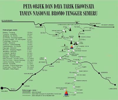 Peta Jalan Bromo Tengger Semeru
