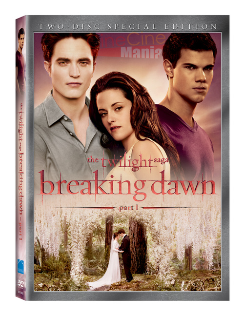 """capa do DVD """"Amanhecer - parte 1"""""""