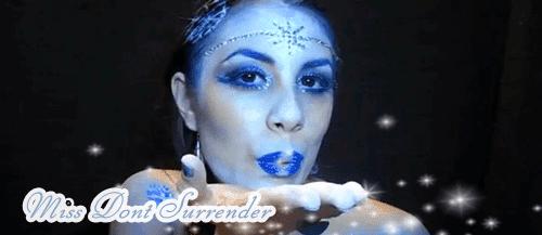 maquillaje de fantasia princesa de hielo completo