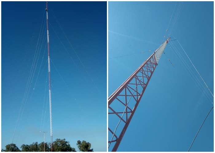 La nueva antena de la radio....