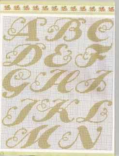 Letras Maiusculas E Minusculas Bordadas Em Ponto Cruz