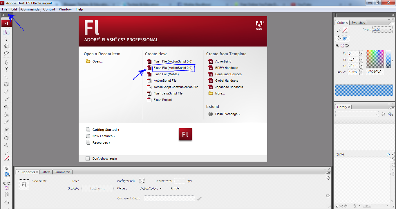 adobe flash actionscript 2.0 vs 3.0