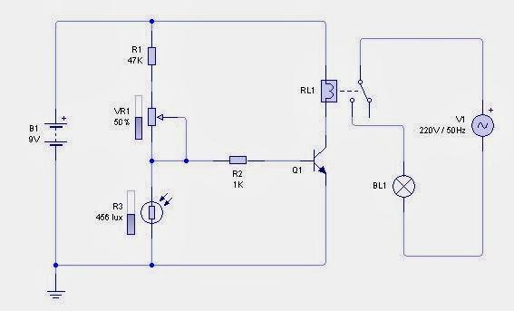 Contoh Rangkaian Sensor LDR